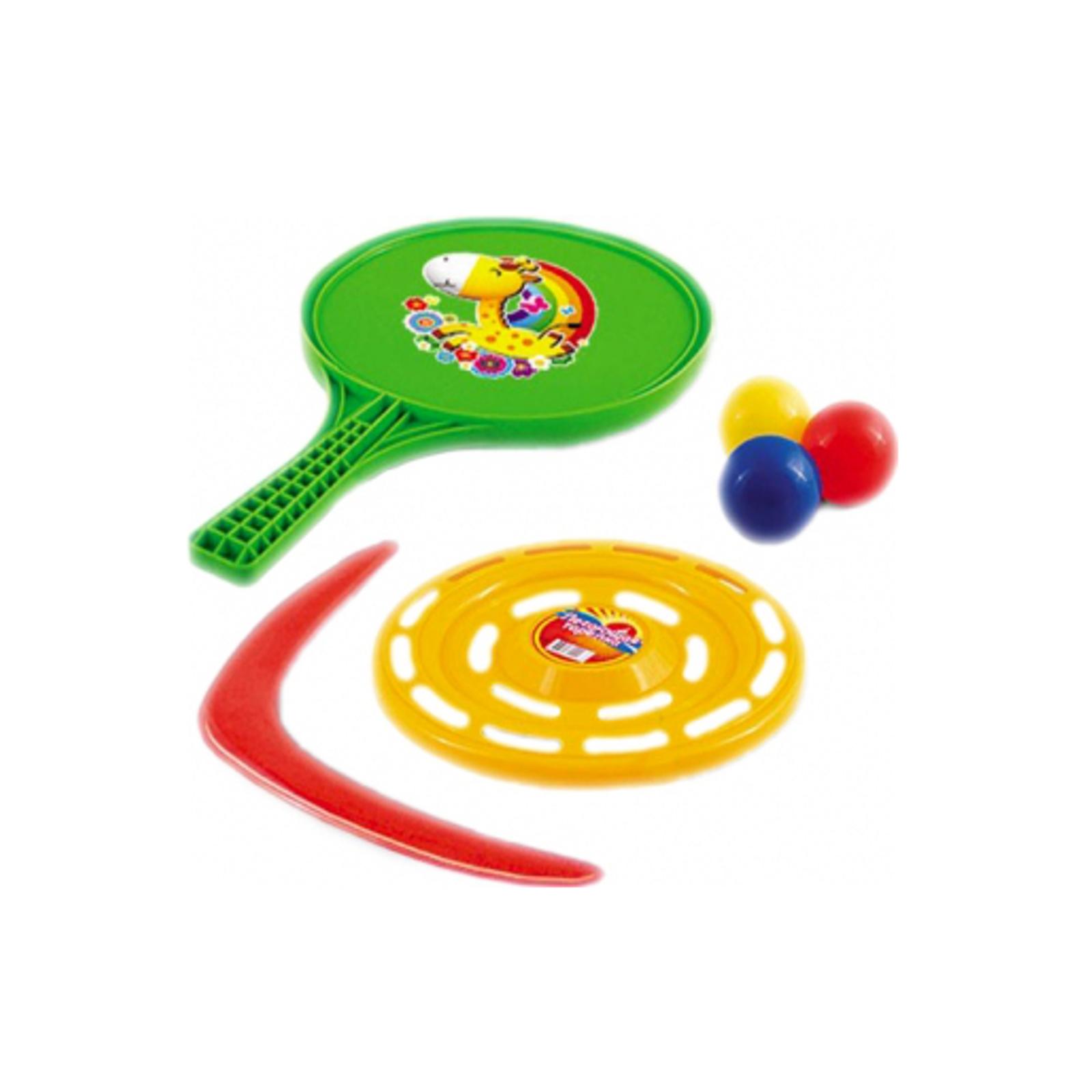 Игровой набор Нордпласт Ракетки для настольного тениса + 3 шарика + бумеранг<br>