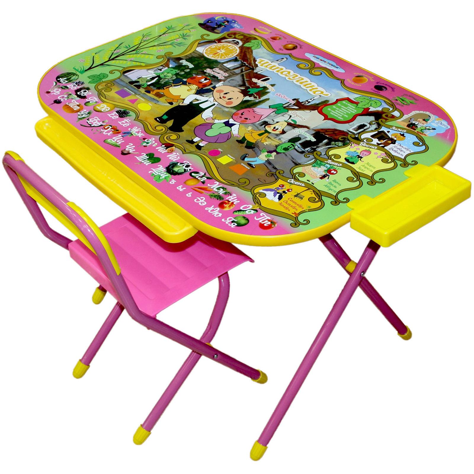 Набор мебели стол и стул Дэми Дошкольник Чиполино Розовый<br>