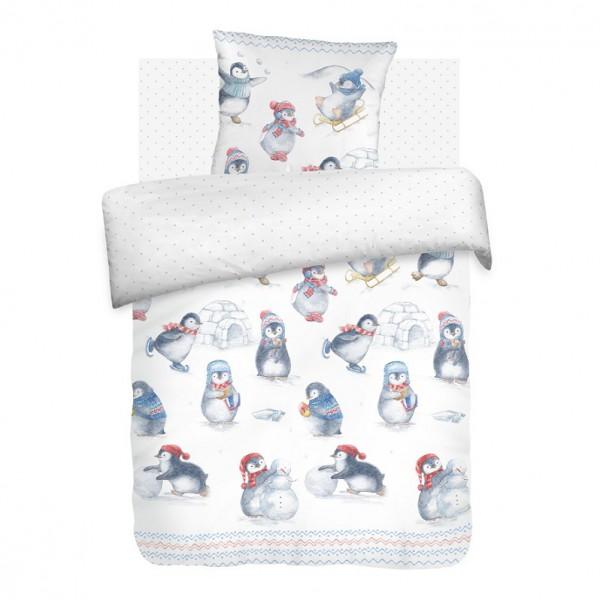 Комплект постельного белья детский бязь Непоседа Н/У на резинке Пингвинята<br>