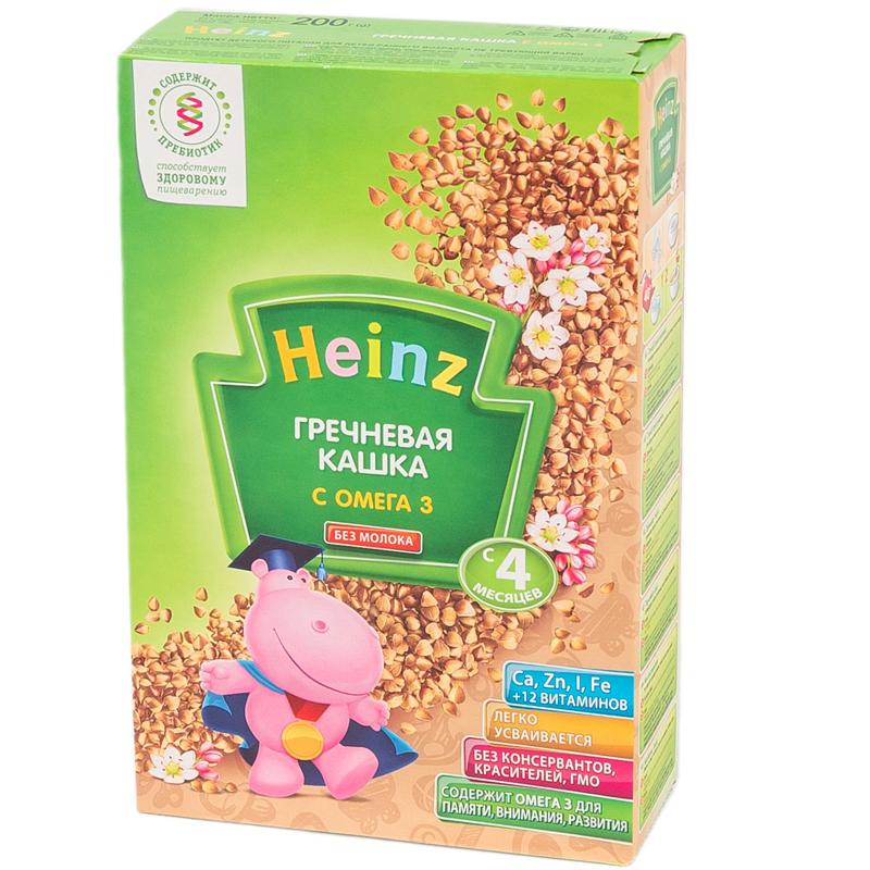 Каша Heinz безмолочная 200 гр Гречневая с Омега-3 (с 4 мес)<br>