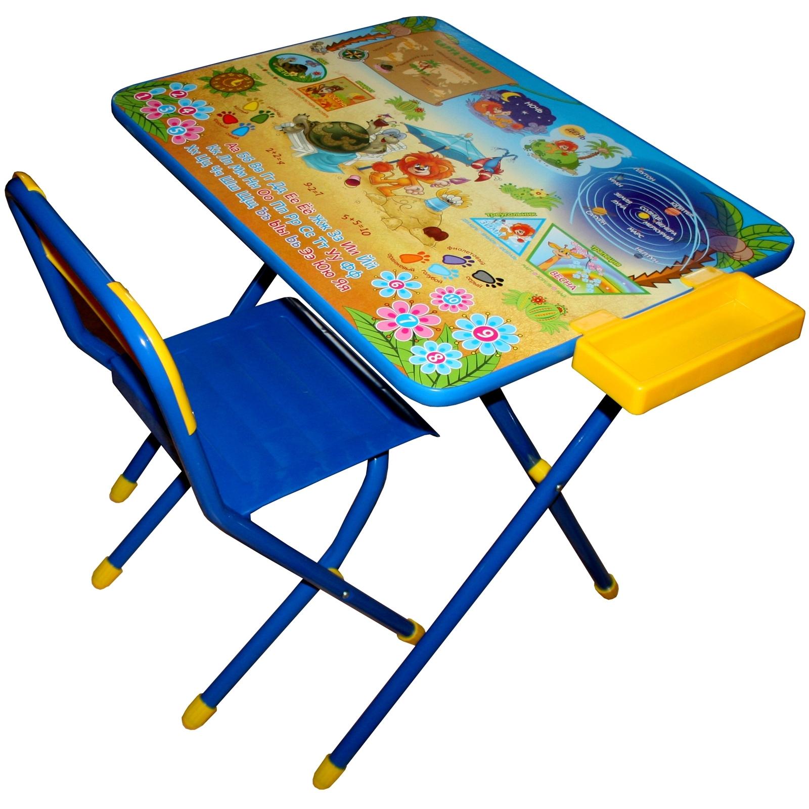 Набор мебели стол и стул Дэми №3 Львенок и Черепаха<br>