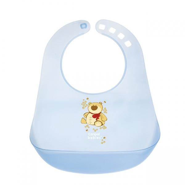 Нагрудник Canpol Babies с кармашком голубой (с 12 мес)<br>