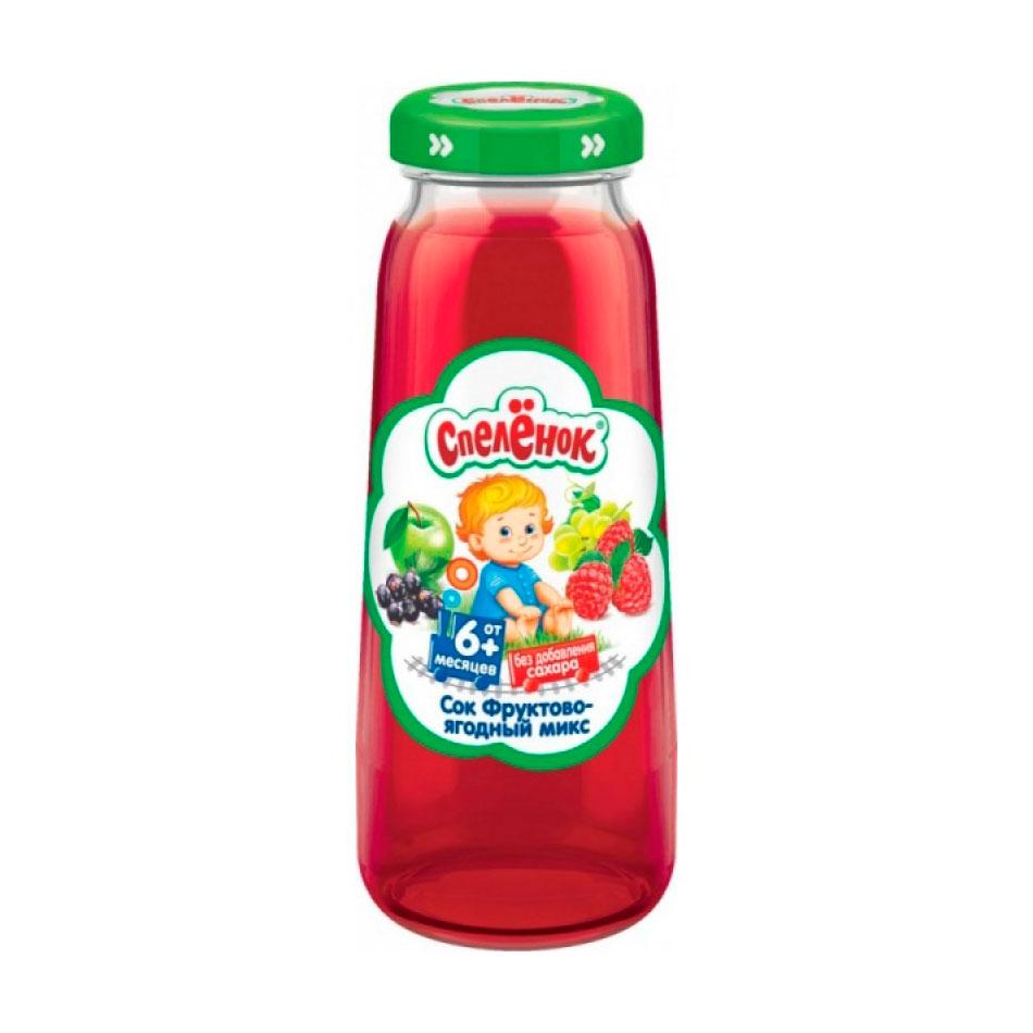 Сок Спеленок 200 мл (стекло) Фруктово ягодный микс осветленный (с 6 мес)