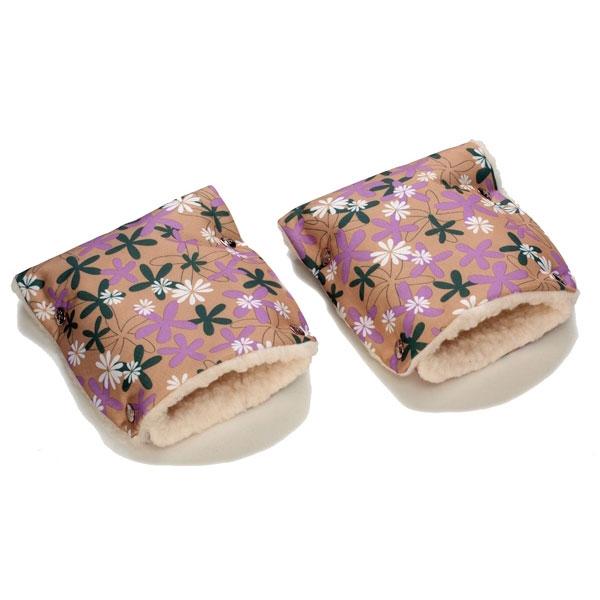 Муфты-рукавички Чудо-Чадо (Рисунок) меховые Ромашки<br>