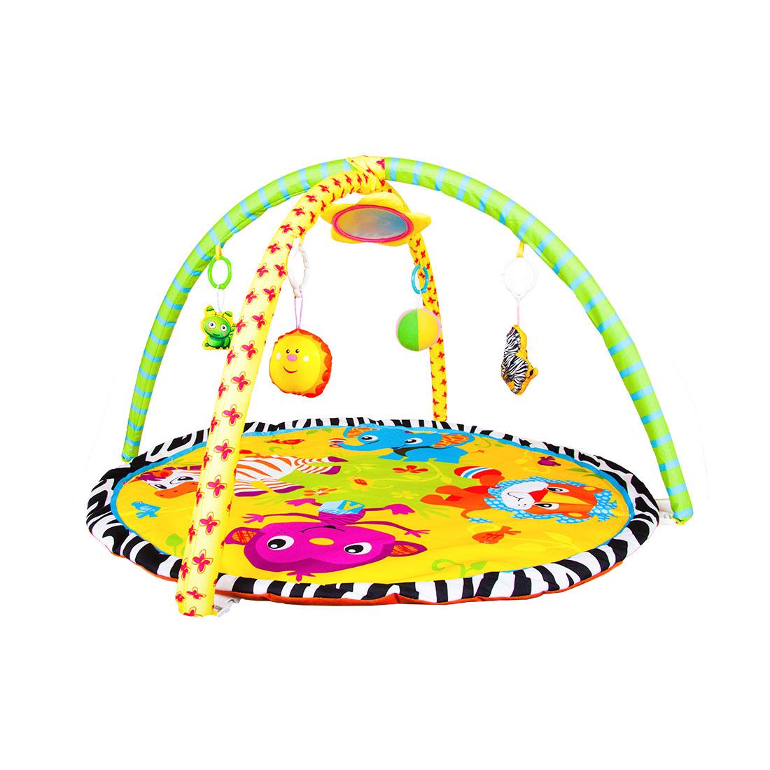 Развивающий коврик ToyMart с игрушками Весёлый Зоопарк<br>