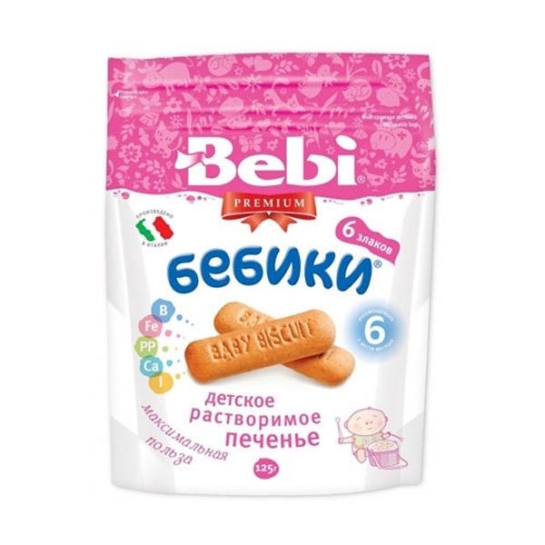 Печенье Bebi Premium  Бебики с 6 мес 125 гр 6 злаков<br>