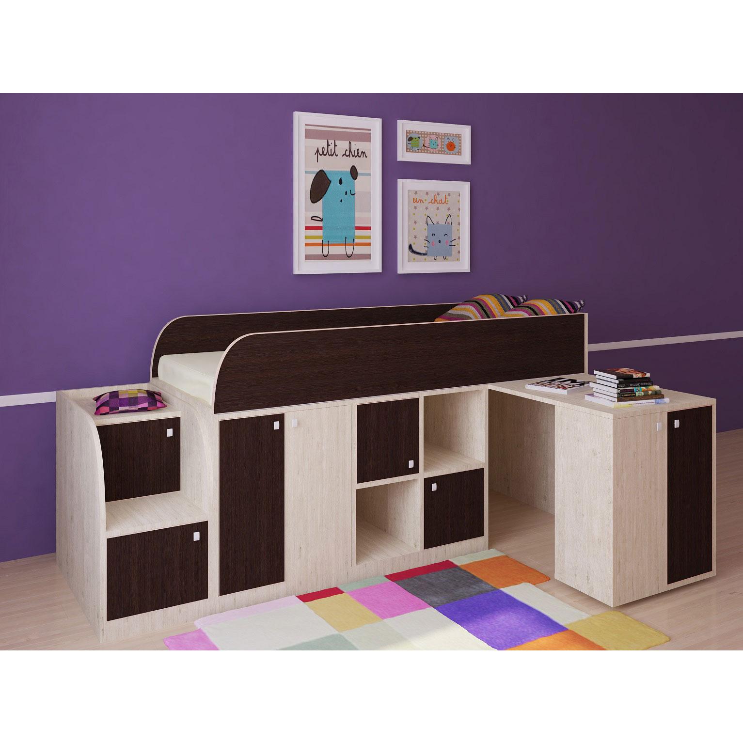 Набор мебели РВ-Мебель Астра мини Дуб молочный/Венге