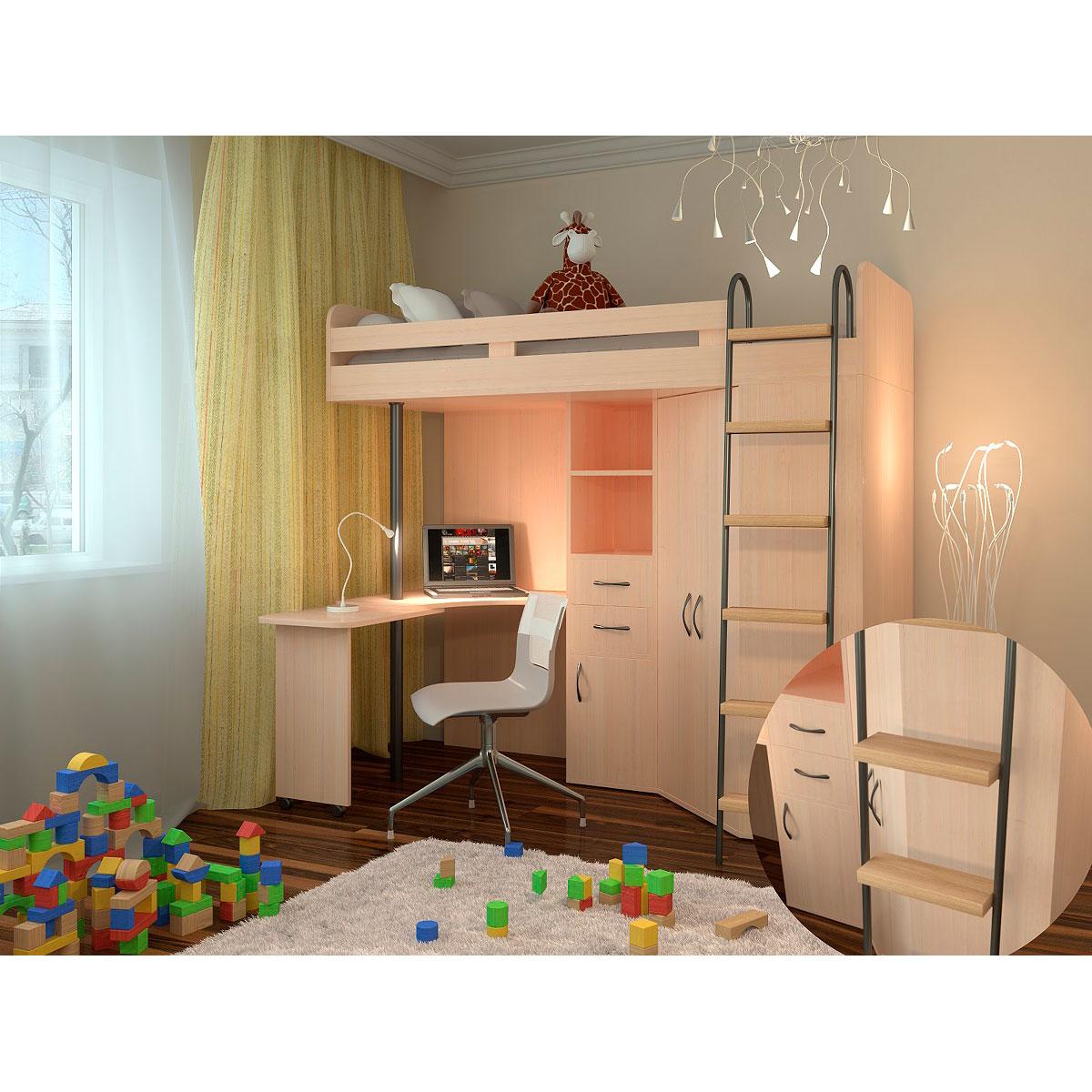 Набор мебели РВ-Мебель М85 Дуб молочный<br>