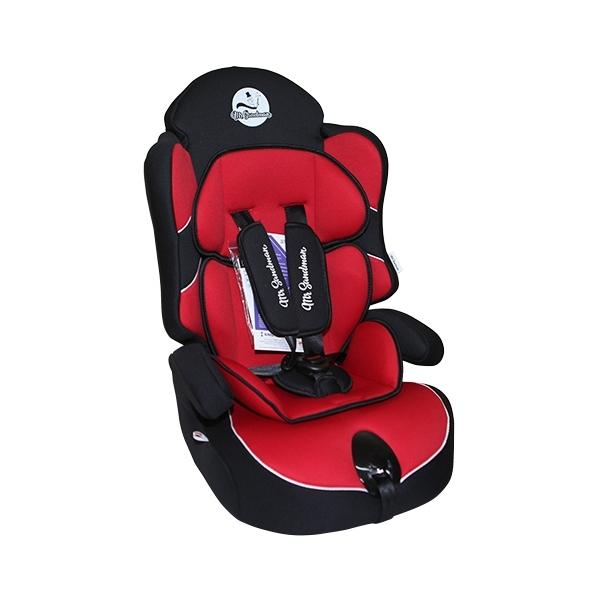 Автокресло Mr Sandman Little Passenger Isofix Черное с красным<br>