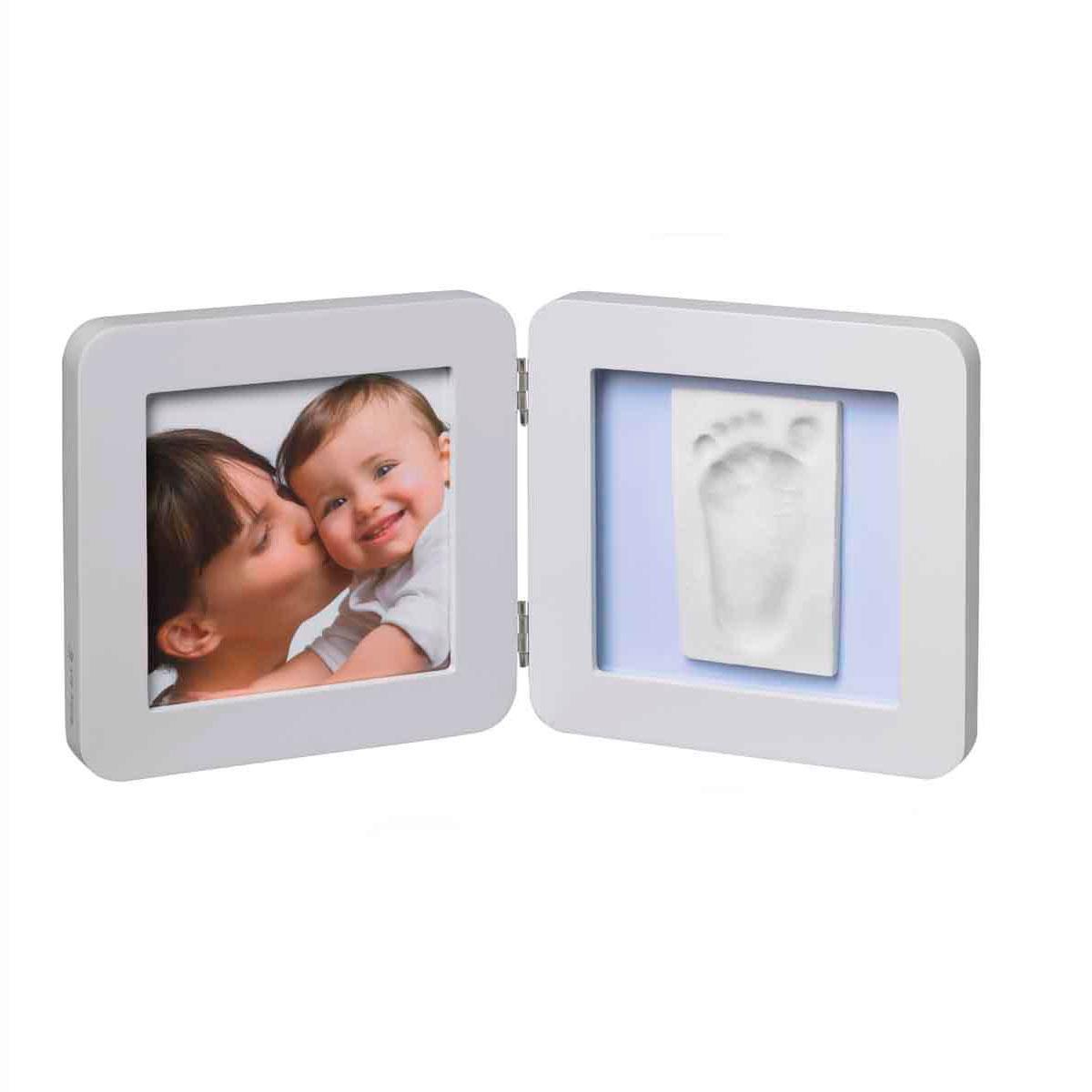 Рамочка Baby Art двойная (светло-серая)<br>