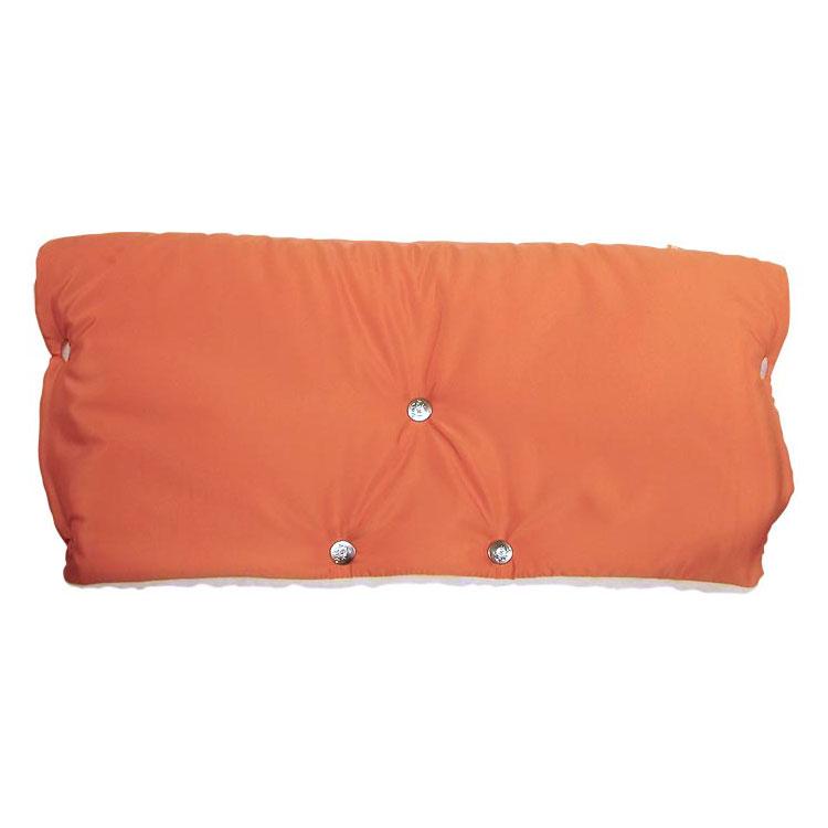 Муфта для коляски Чудо Чадо для защиты рук от холода на кнопках Оранжевый<br>