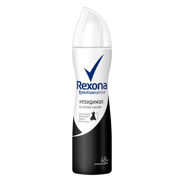 Дезодорант-аэрозоль Rexona невидимая на черном и белом 150 мл<br>