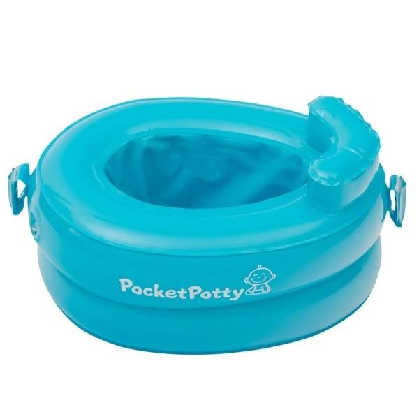 Горшок надувной Roxy-Kids PocketPotty со сменными пакетами (голубой)<br>