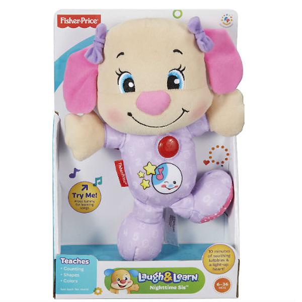 Развивающая игрушка Fisher Price Смейся и Учись Сестричка ученого щенка с 6 мес. (игрушка для сна)<br>
