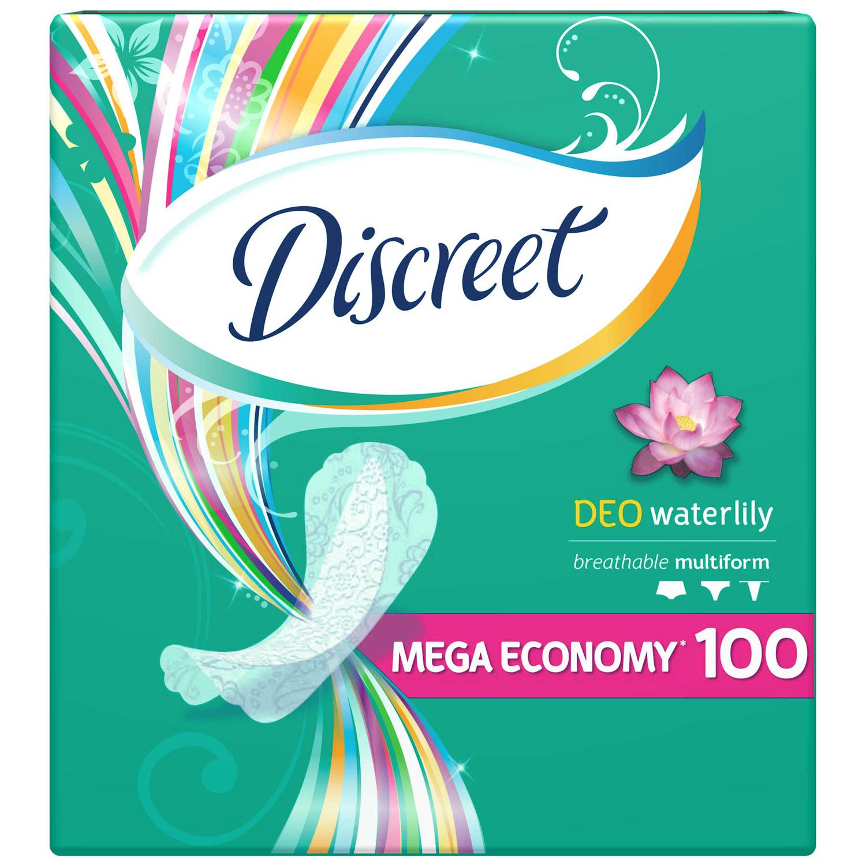 Прокладки гигиенические Discreet ежедневные Deo Water Lily Multiform 100шт<br>