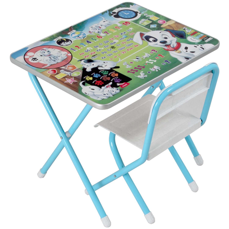 Набор мебели стол и стул Дэми №1 101 Далматинец Голубой<br>