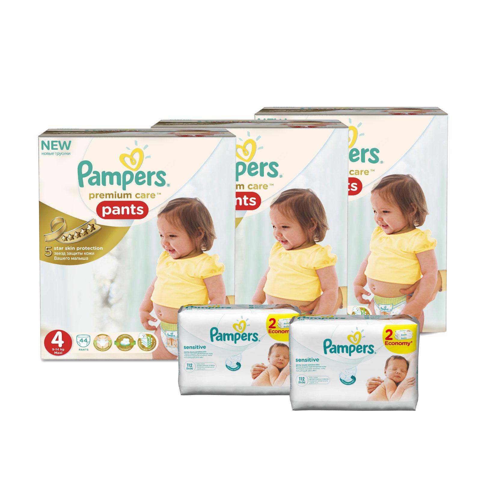 Набор Pampers № 5 Трусики Premium Care (4 размер)<br>
