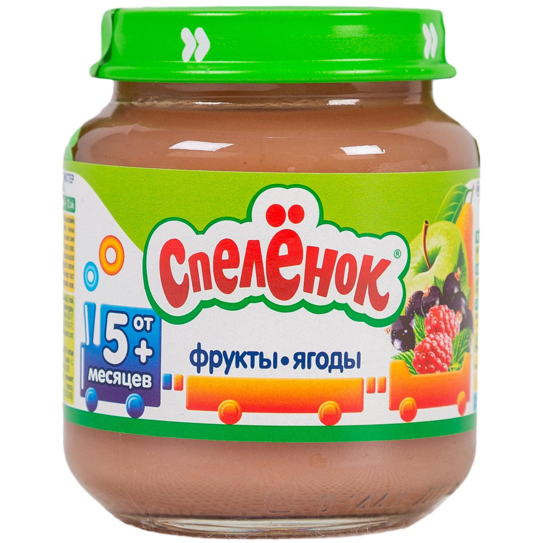 Пюре Спеленок фруктовое 125 гр Фрукты и ягоды (с 5 мес)<br>