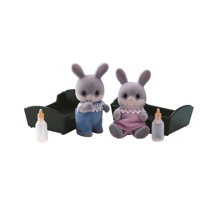 Фигурки животных Sylvanian Families Малыш Серый Кролик<br>