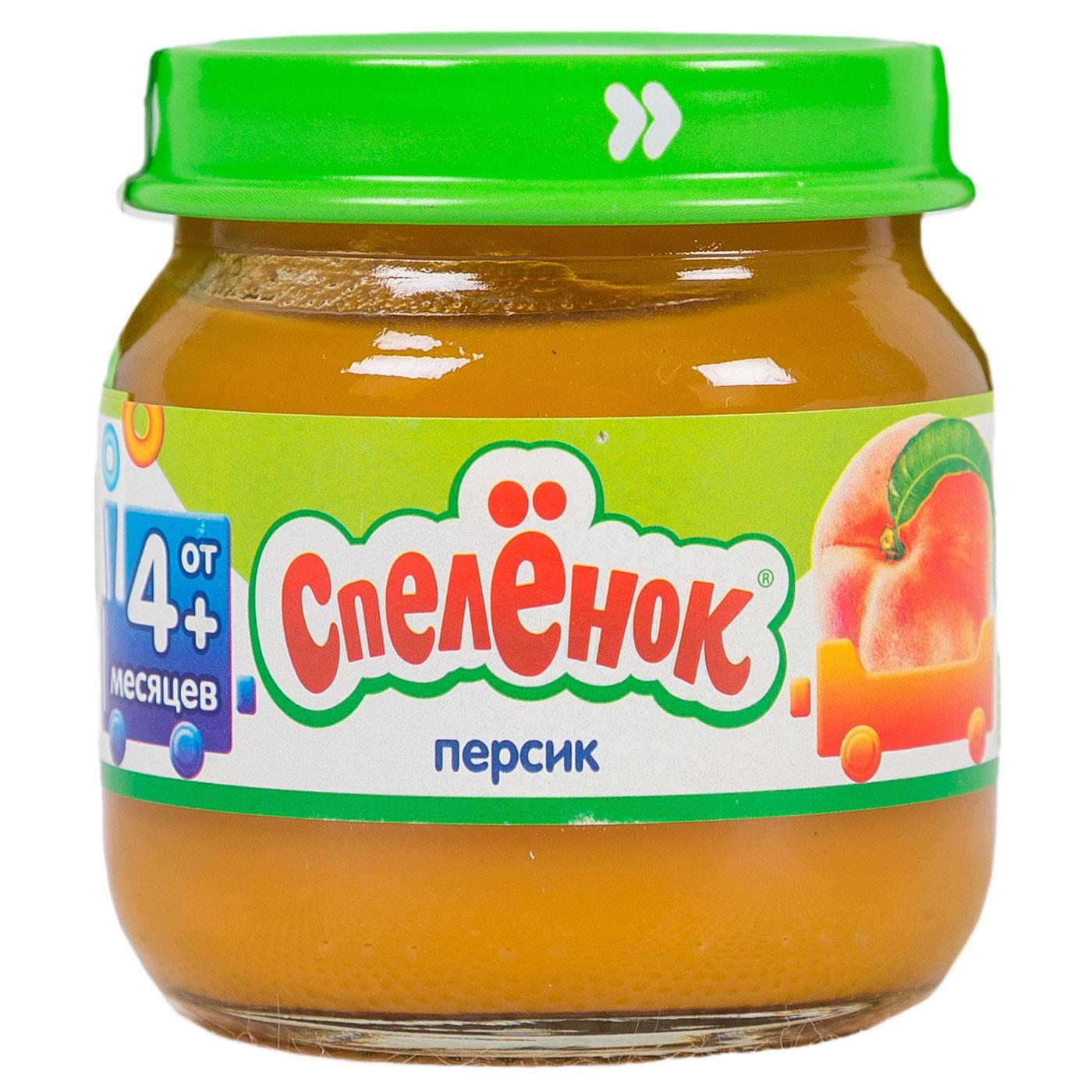 Пюре Спеленок фруктовое 80 гр Персик (с 4 мес)<br>