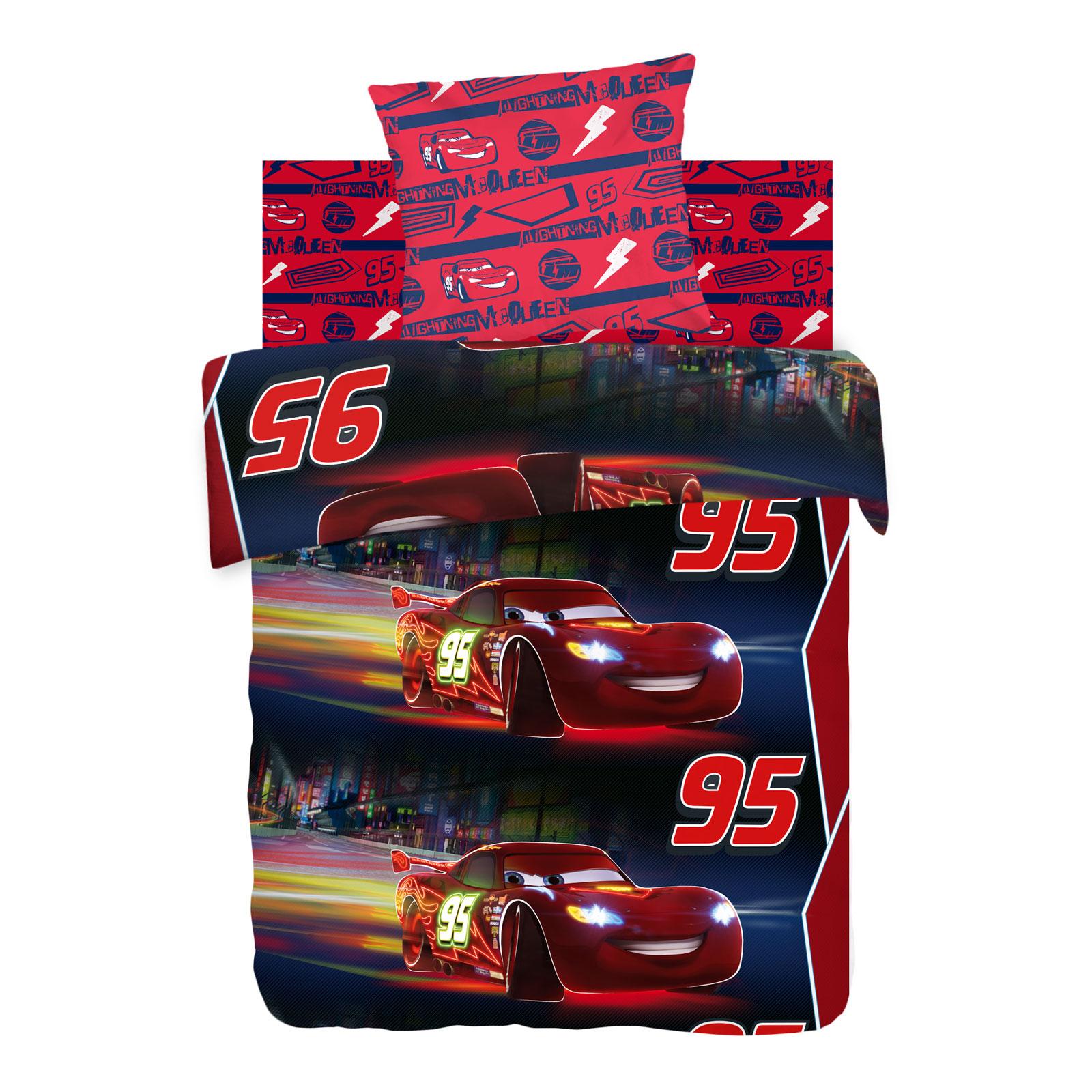 Комплект постельно белья 1,5 хлопок Тачки Neon Ночная гонка<br>