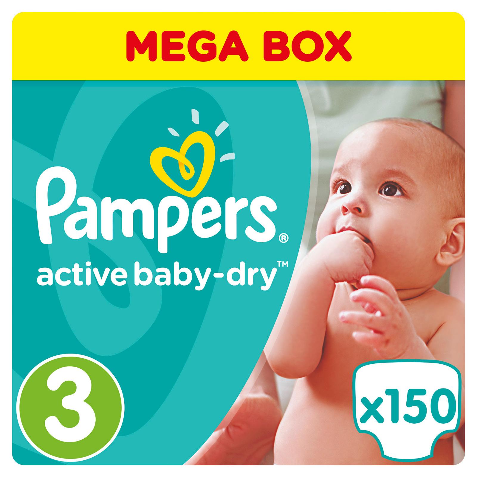 Подгузники Pampers Active Baby Midi 5-9 кг (150 шт) Размер 3<br>