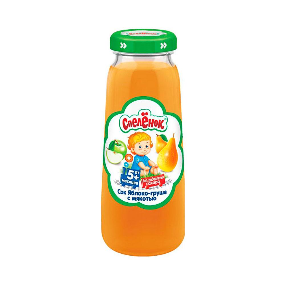 Сок Спеленок 200 мл (стекло) Яблоко груша с мякотью (с 5 мес)