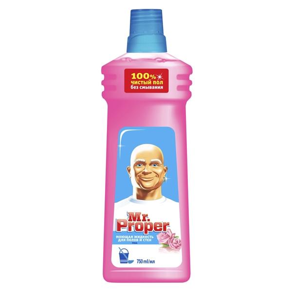 Средство для мытья полов и стен Mr Proper 750 мл Роза<br>
