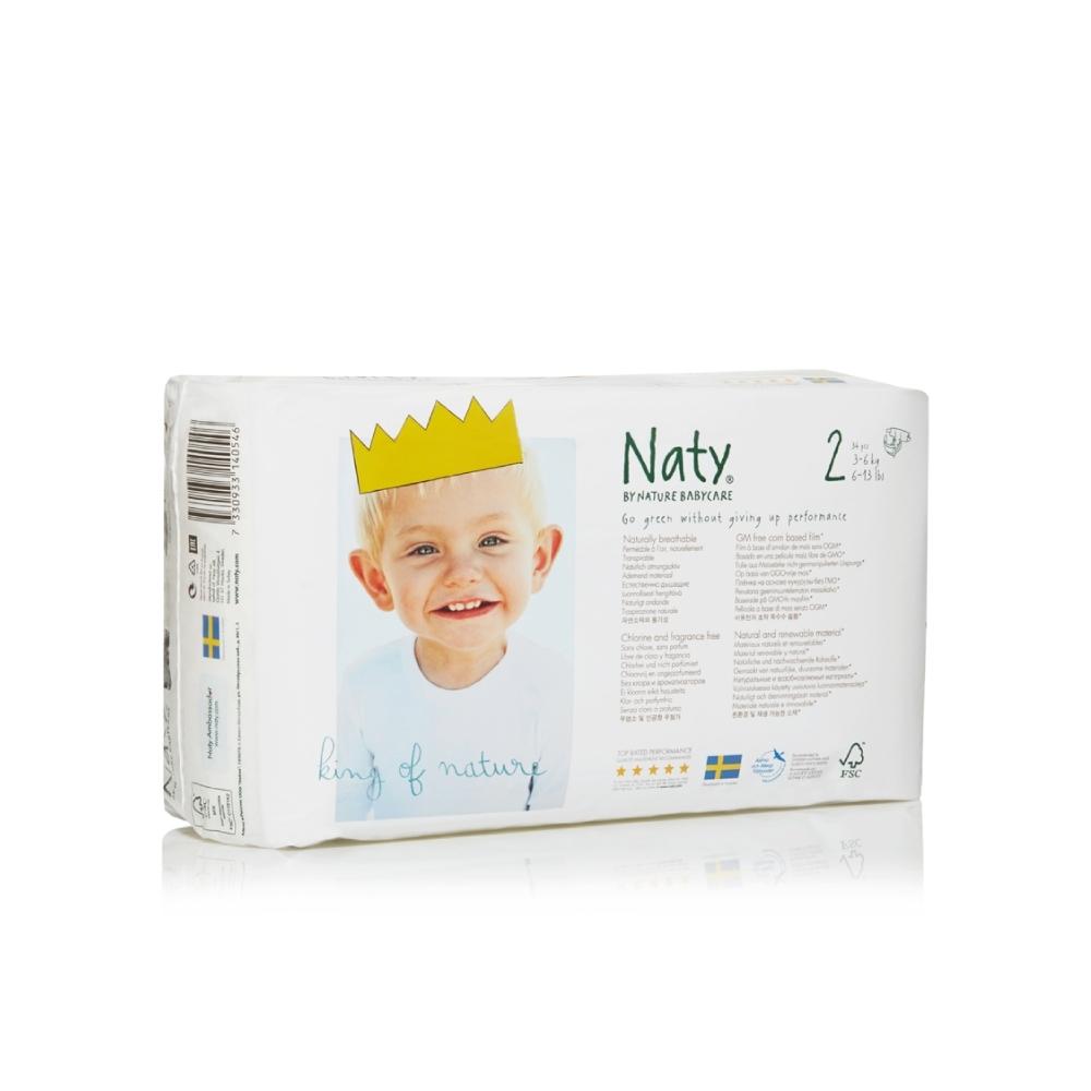 Подгузники Naty 3-6 кг (34 шт) Размер 2<br>