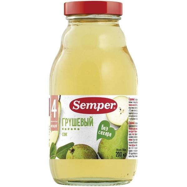 Сок Semper 200 мл Груша (с 4 мес)<br>
