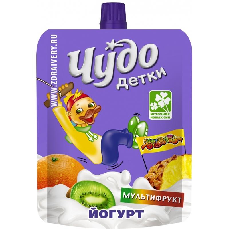 Йогурт Чудо Детки 85 гр Мультифрукт (с 3 лет)<br>