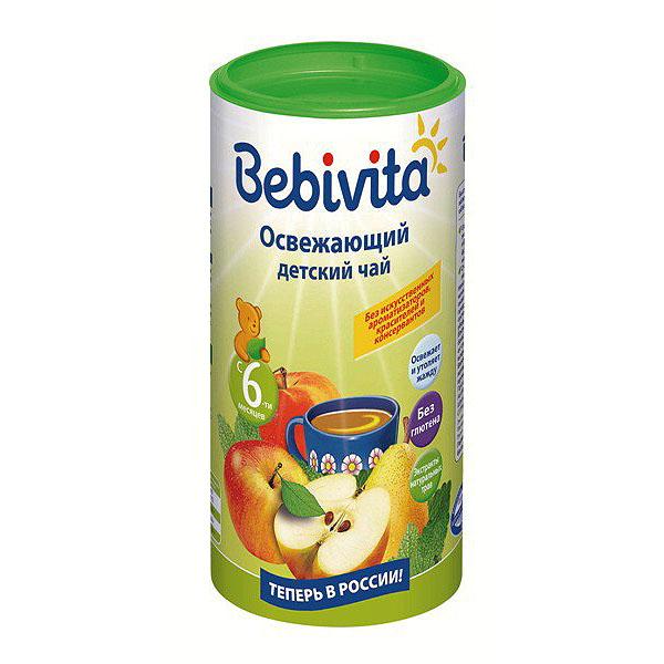 Чай детский Bebivita быстрорастворимый 200 гр Освежающий (с 5 мес)