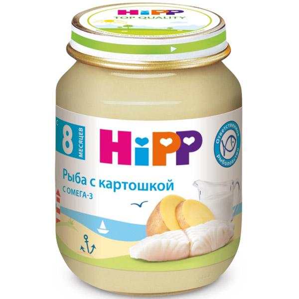 Пюре Hipp рыбное 125 гр С картошокой (с 8 мес)<br>