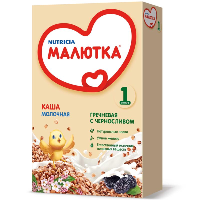 Каша Малютка молочная 220 гр Гречневая с черносливом (с 4 мес)<br>