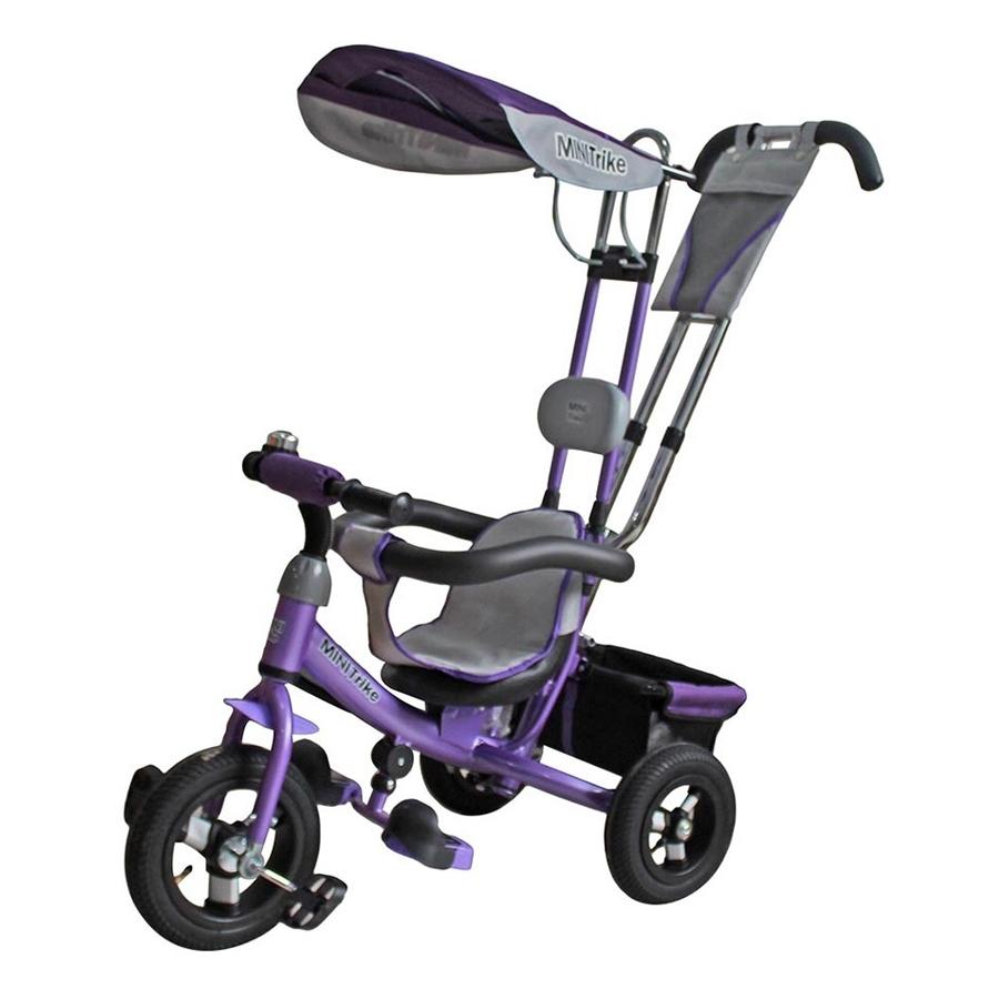 Велосипед трехколесный Mini Trike с надувными колесами 108 Фиолетовый<br>