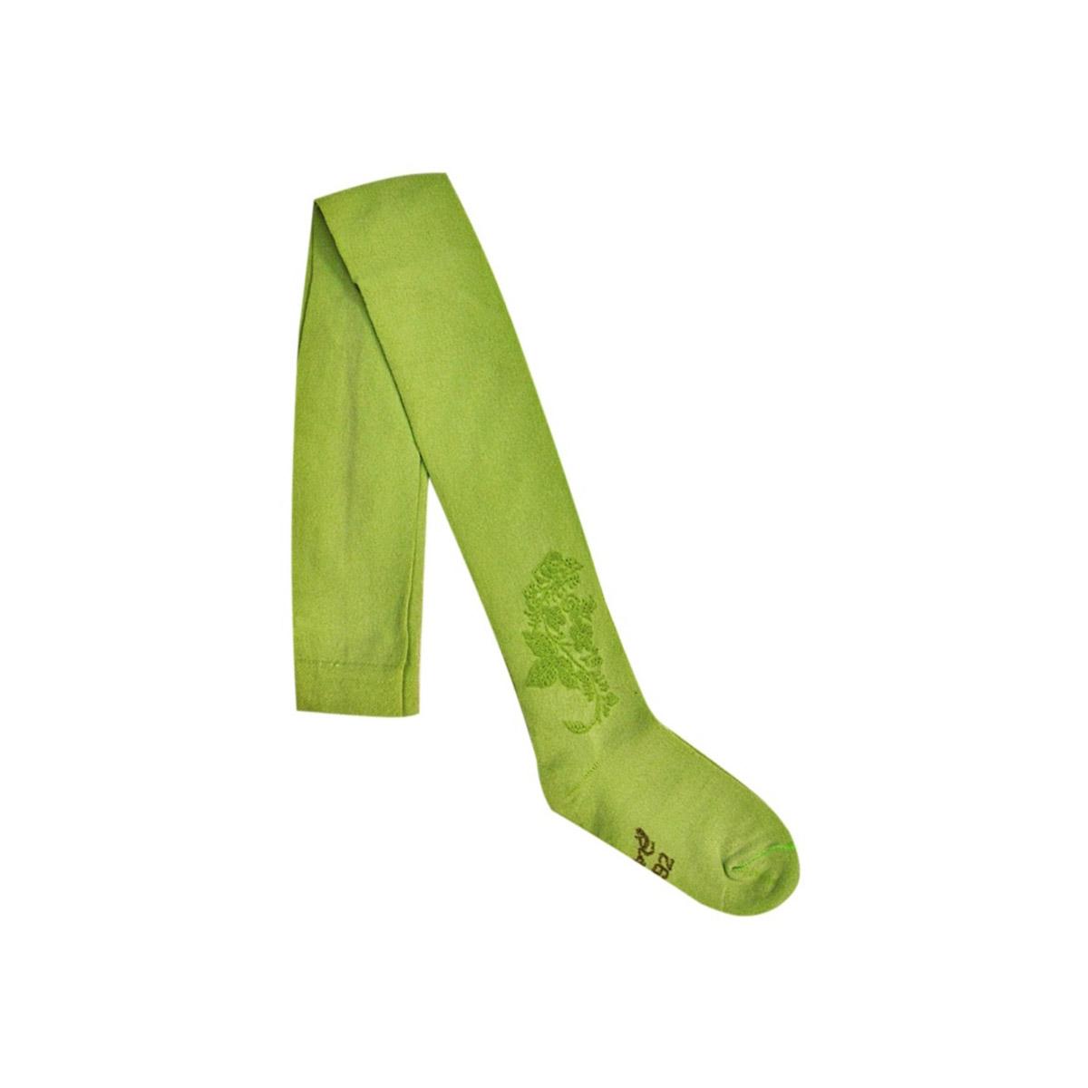 Колготки однотонные Ёмаё с ажурным рисунком рост 62-68 светло зеленый<br>