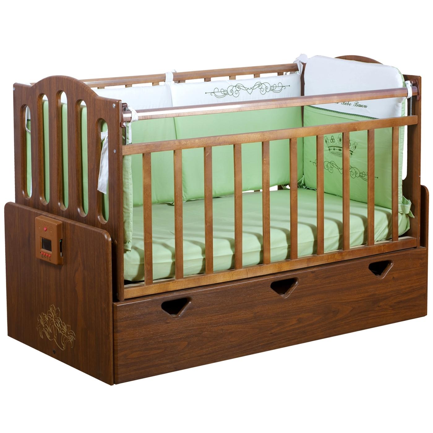 Кроватка Daka Baby Укачай-ка 03 автоматическая Орех<br>