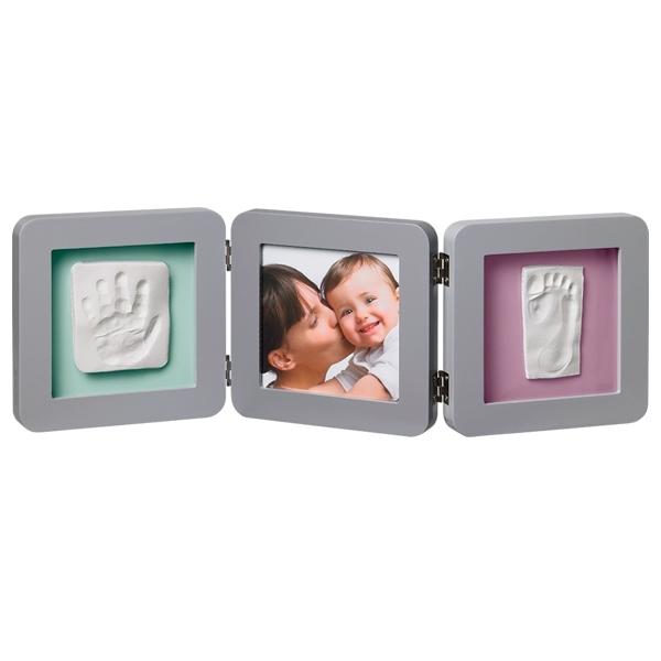 Рамочка Baby Art PRINT Frame тройная Бирюзовый с фиолетовым<br>