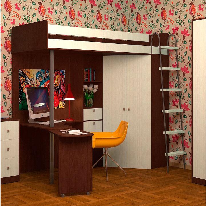 Набор мебели РВ-Мебель М85 Орех/Дуб молочный