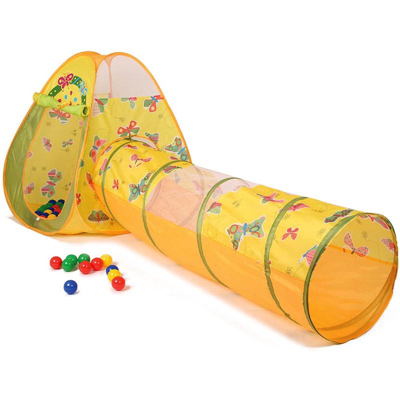 Игровой Дом Alis Бабочка с шарами 100шт Треугольник+туннель CBH-22<br>