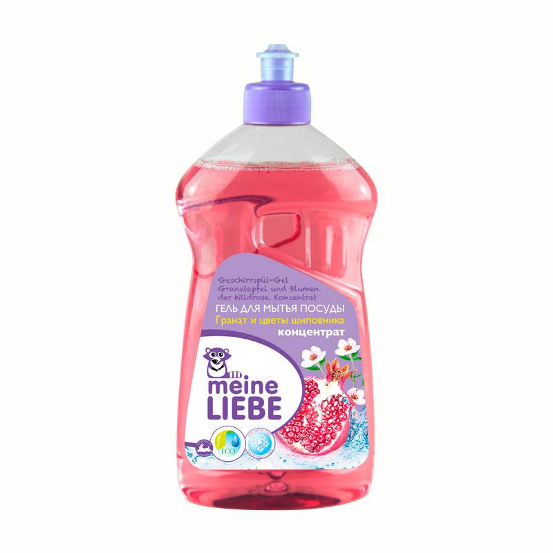 Гель Meine Liebe для мытья посуды 500 мл Гранат и Цветы шиповника (концентрат)<br>
