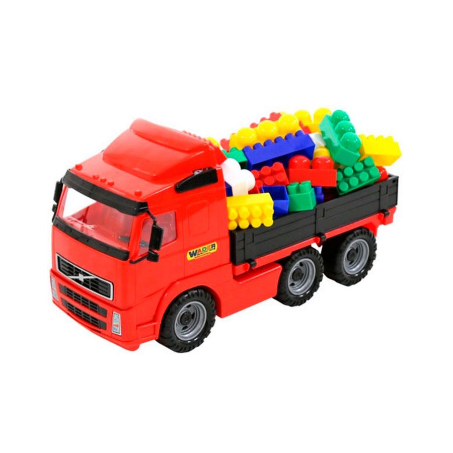 Автомобиль бортовой Wader Конструктор Супер-Микс 60 элементов в коробке 9739<br>