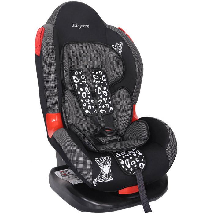 Автокресло Baby Care BC-02 Люкс Леопардик Карбон Серый<br>