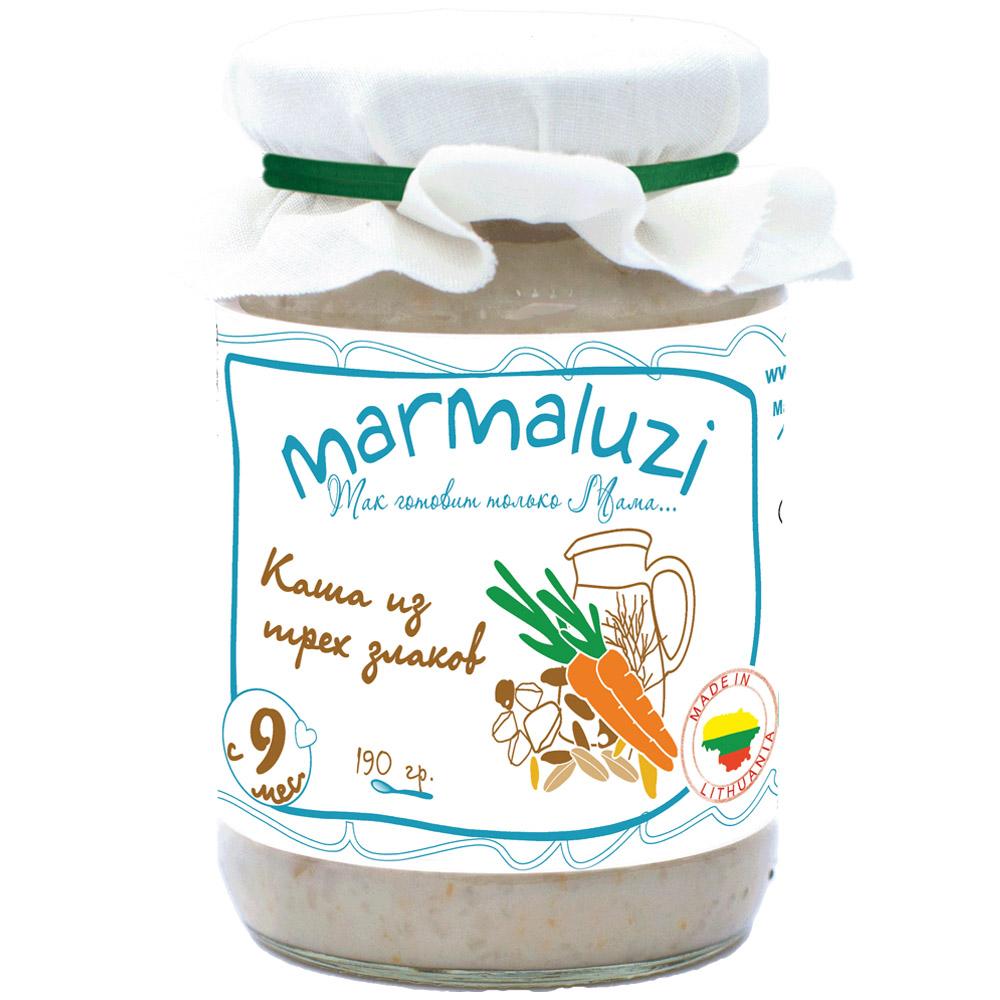 Пюре Marmaluzi злаки 190 гр Каша из 3 злаков (с 9 мес)<br>