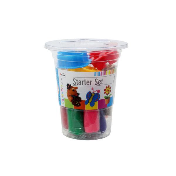 Пластилин Stationery 10 цветов с инструментами в стаканчике<br>