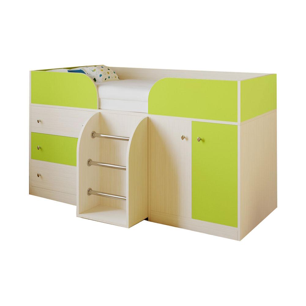 Набор мебели РВ-Мебель Астра 5 Дуб молочный/Салатовый<br>
