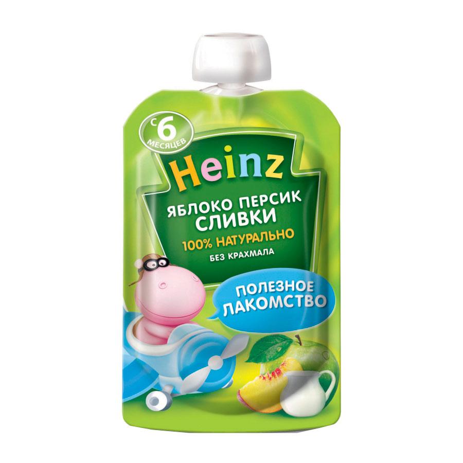 Пюре Heinz фруктовое со сливками 90 гр Яблоко персик с 6 мес<br>
