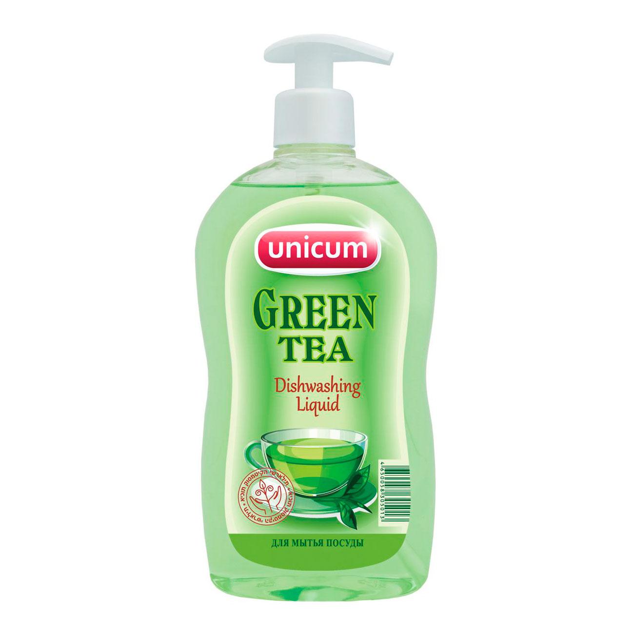 Средство для мытья посуды Unicum зелёный чай 550 мл<br>