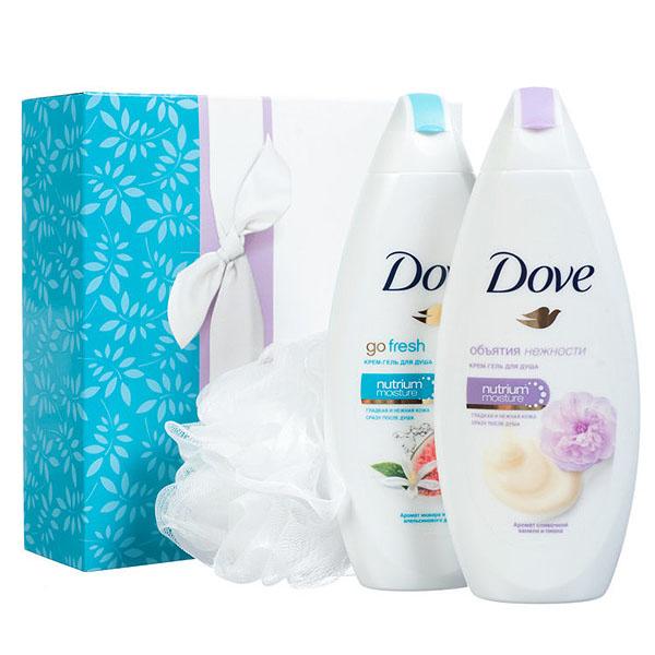 Подарочный набор Dove Моменты наслаждения крем-гель для душа Сливочная ваниль и пион 250мл + крем-гель для душа Инжир и лепестки апельсина 250<br>