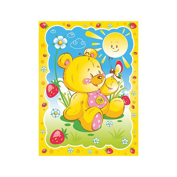 Одеяло Baby Nice байковое 100% хлопок 85х115 Солнечный мишка Желтый<br>